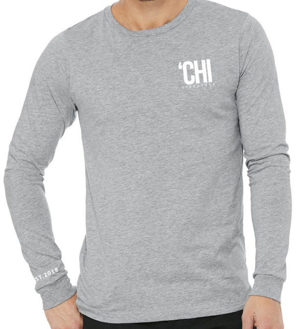 'CHI Lifestyle Long Sleeve T-Shirt Athletic Heather Grey
