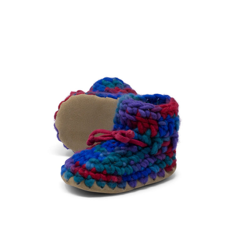 Padraig Cottage - Baby Size 3 Slippers Red Multi