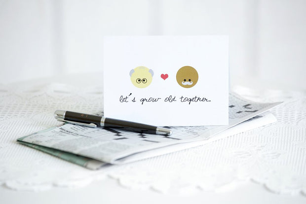 Halifax Paper Hearts Card - Let's Grow Old Together (Men)