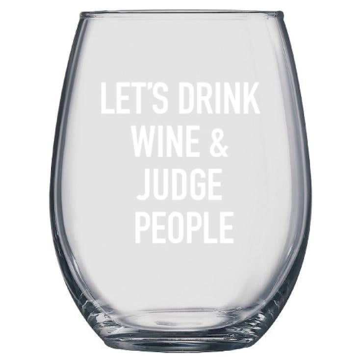 Classy Cards Wine Glass Judge People