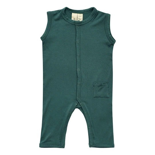 Kyte Baby - Sleeveless Romper in Emerald