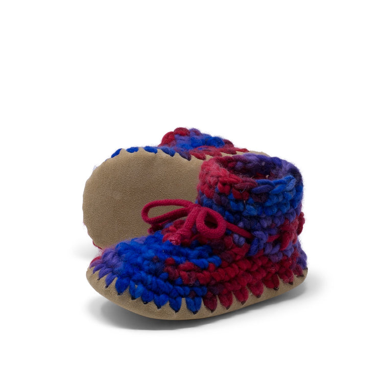 Padraig Cottage - Child Size 11 Slippers Red Multi