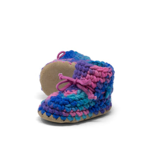 Padraig Cottage - Baby Size 3 Slippers Pink Multi