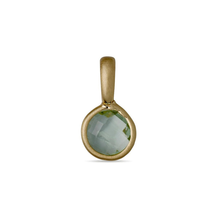 Pilgrim - Birthstone Pendant Gold Plated August