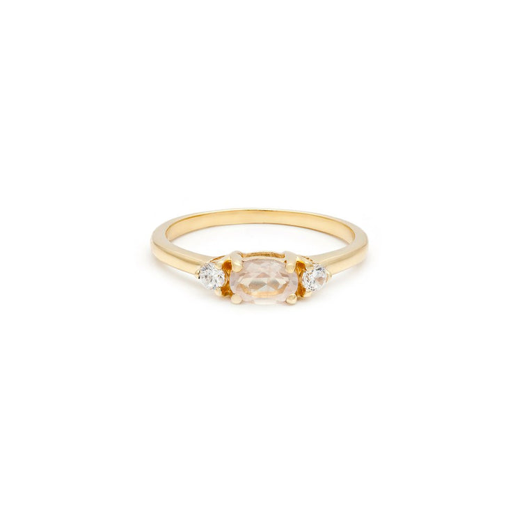 Leah Alexandra - Ring Elle Gold + Rose Quartz