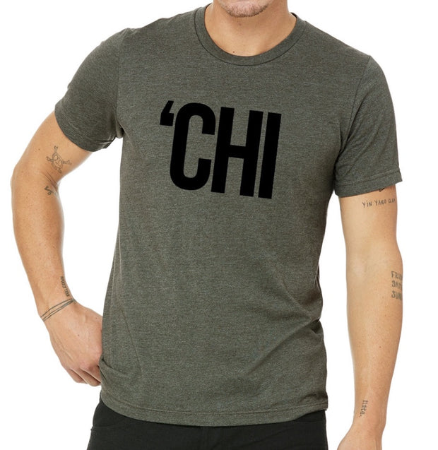 Chi Lifestyle T-Shirt Heather Military Green