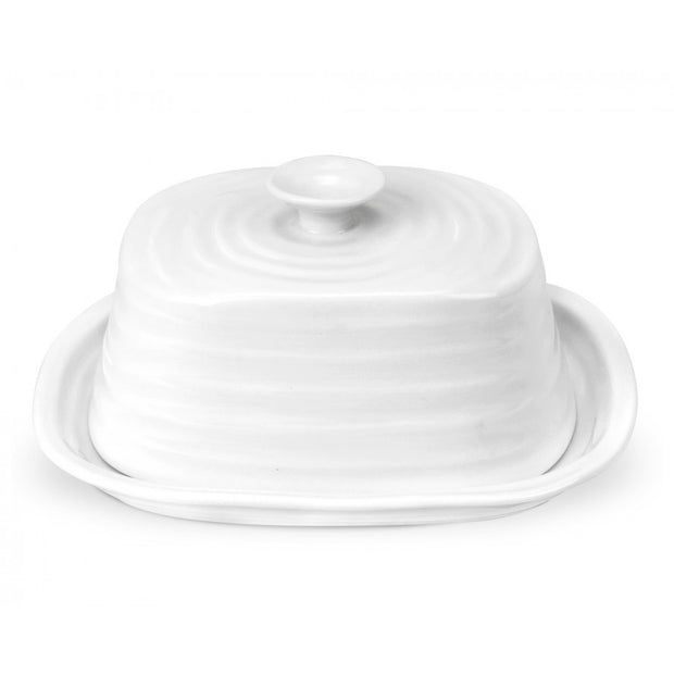 Sophie Conran for Portmeirion Oblong Covered Butter Dish - White