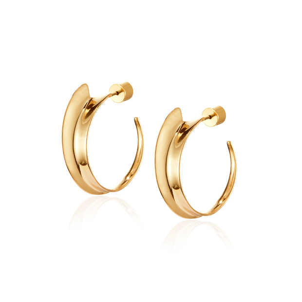 JENNY BIRD - Vantage Hoop Earrings in Gold