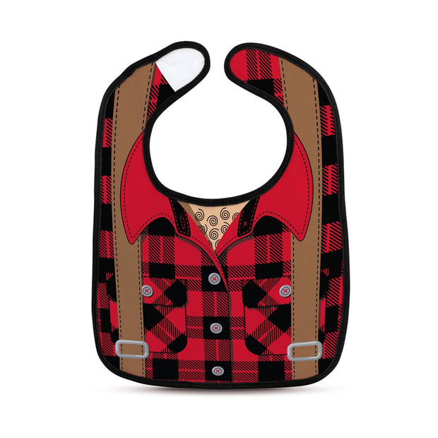 Fred - Chill Baby Dressed To Spill Lumberjack Bib & Teether Set