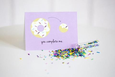 Halifax Paper Hearts Card - You Complete Me