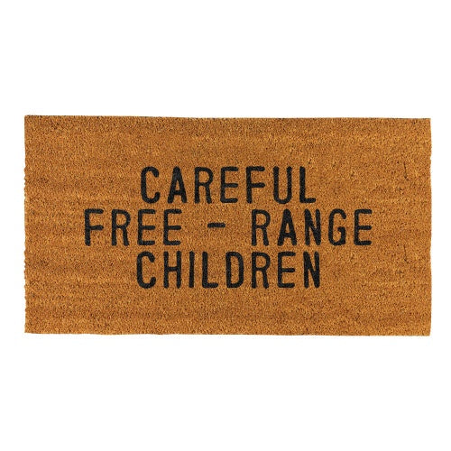 Santa Barbara - Doormat Careful Free-Range Children