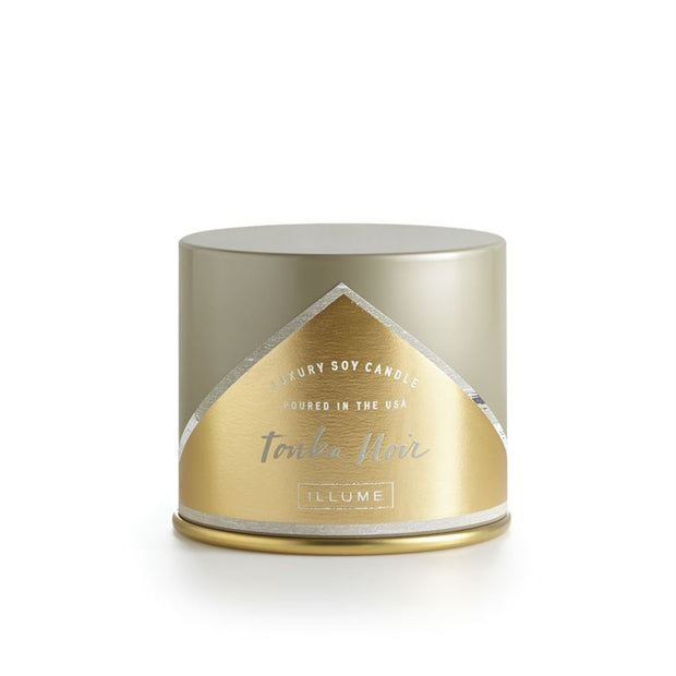 Illume - 11.8oz Vanity Tin Candle Tonka Noir