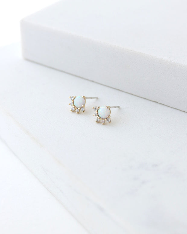 Lover's Tempo - Juno Stud Earrings Gold/Opal