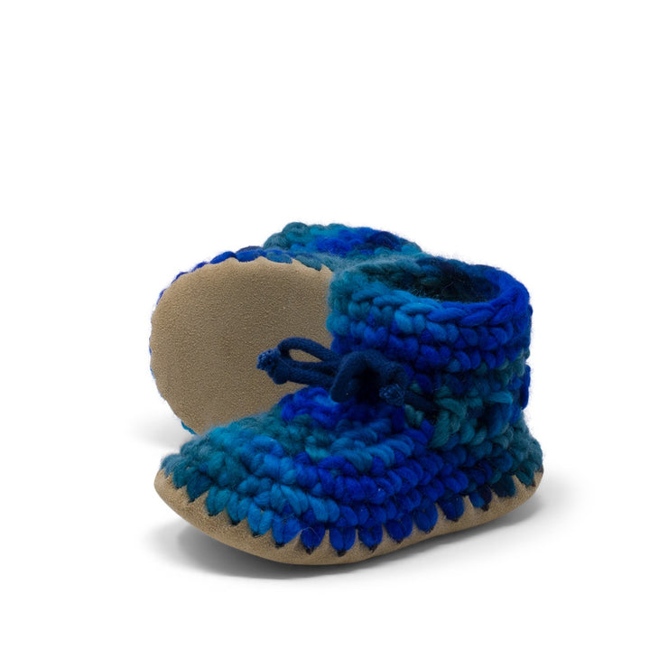Padraig Cottage - Child Size 11 Slippers Blue Multi