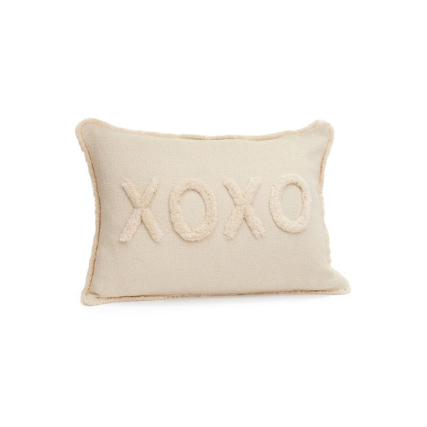 "ADV - Cotton Embroidered XOXO Cushion 14"" x 20"""