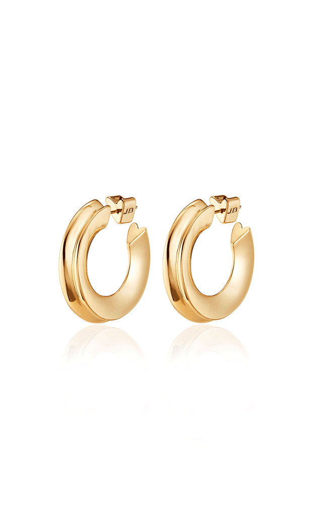 JENNY BIRD - Hidden Heart Hoop Earrings in Gold