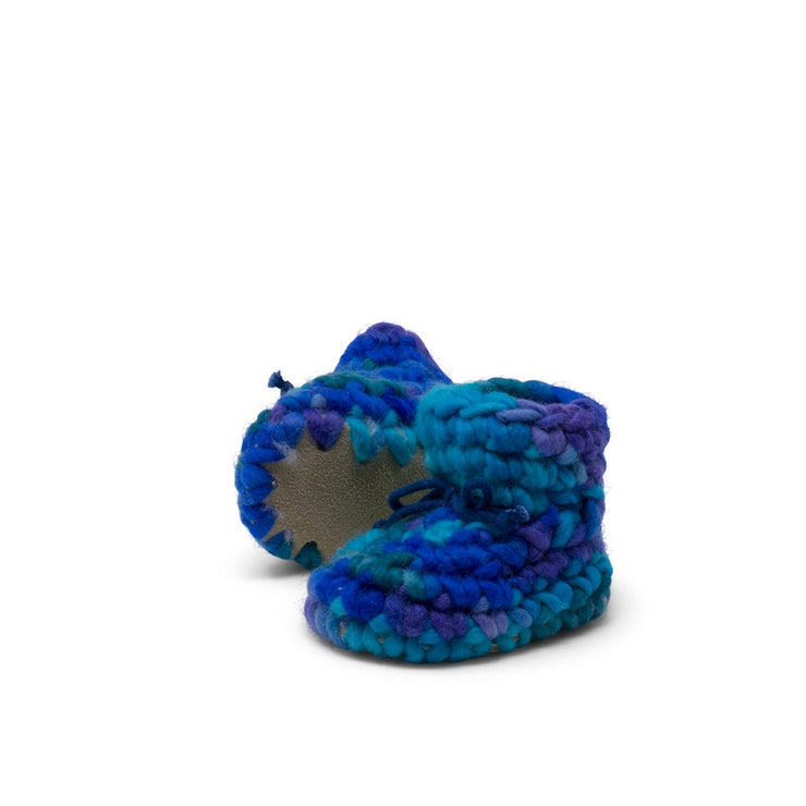 Padraig Cottage - Newborn Slippers Blue Multi