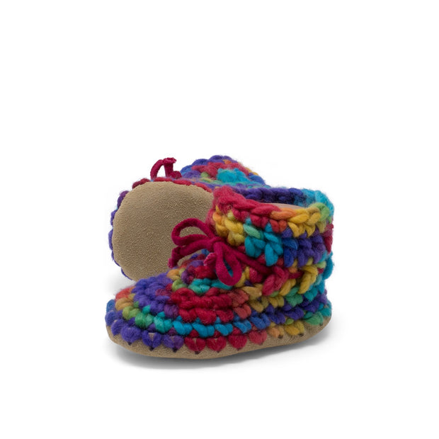 Padraig Cottage - Baby Size 7 Slippers Rainbow