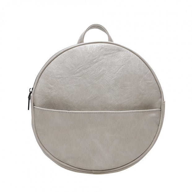 S-Q Jessa Round Convertible Backpack Antique White