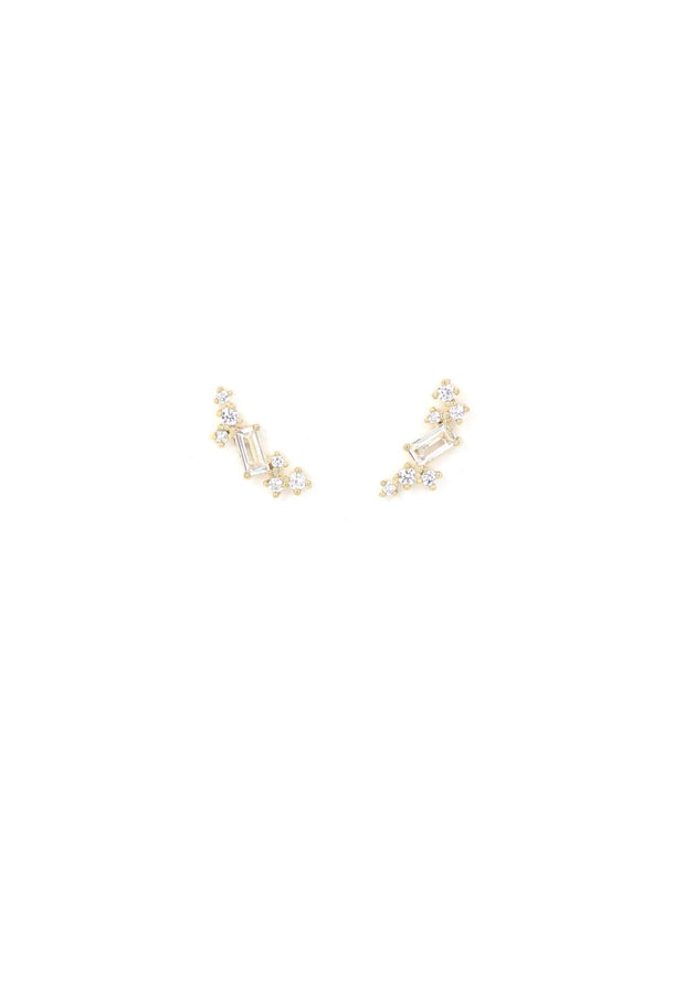 Lover's Tempo - Laurel Climber Earrings Gold