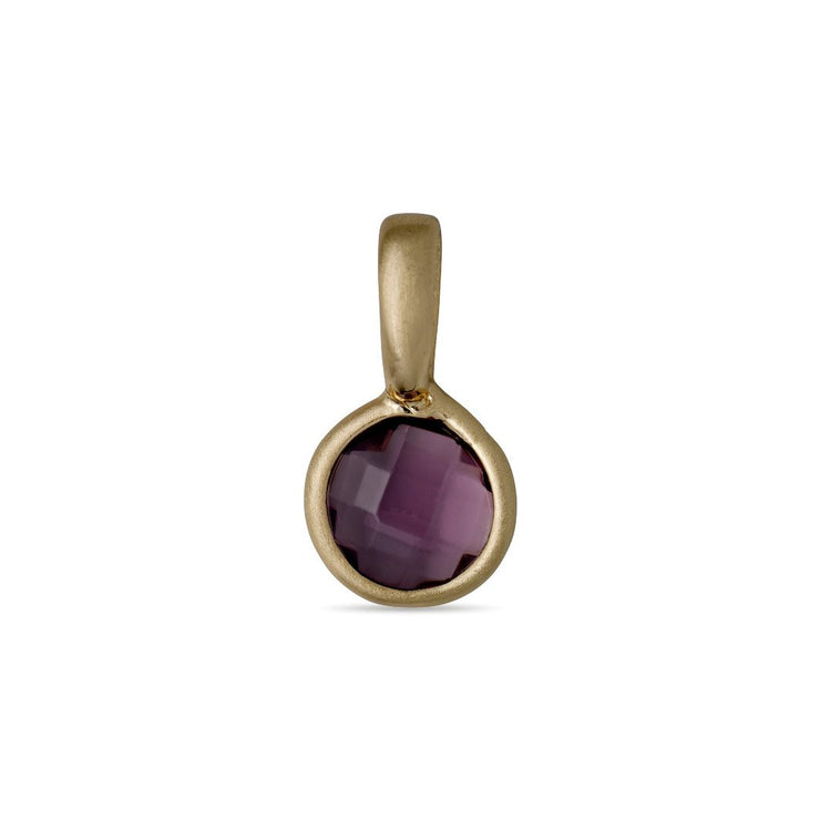 Pilgrim - Birthstone Pendant Gold Plated February