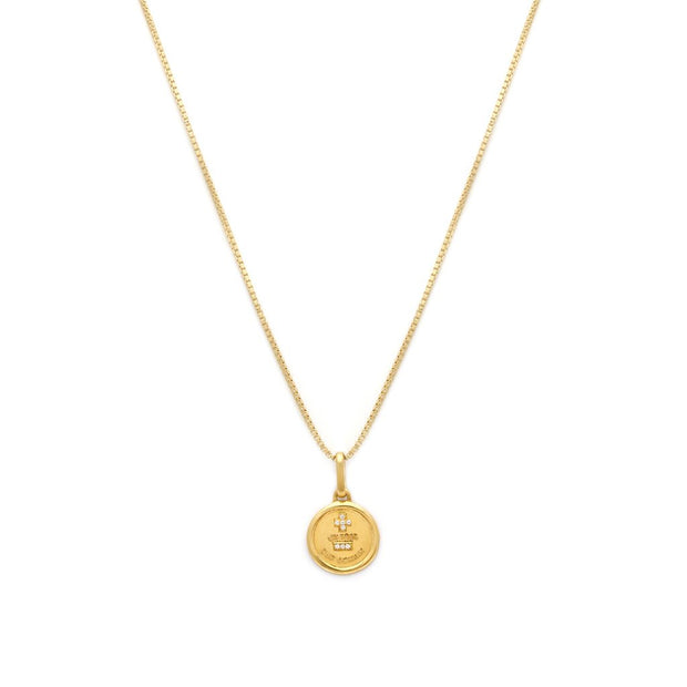 Leah Alexandra - Necklace Love Token Round Gold