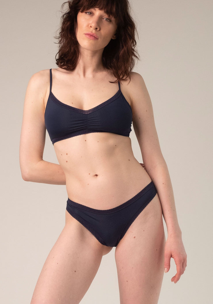 Blush Thong Navy