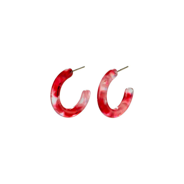 Pilgrim - Earrings Adea Silver Plated Red