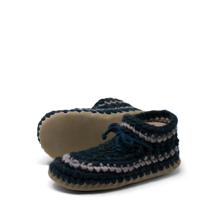 Padraig Cottage - Womens Small Slippers Forest Stripe
