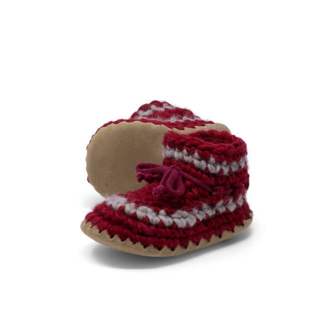 Padraig Cottage - Child Size 9 Slippers Red Stripe
