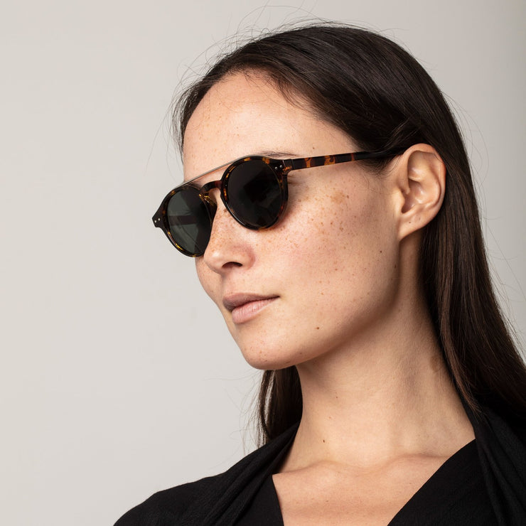Pilgrim - Sunglasses Carrie Silver and Brown