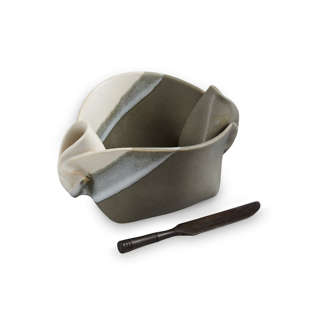 Hilborn Pinch Pot Grey and White