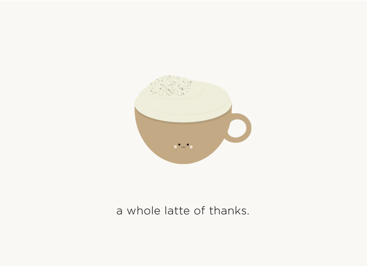Halifax Paper Hearts Card - A Whole Latte Of Thanks