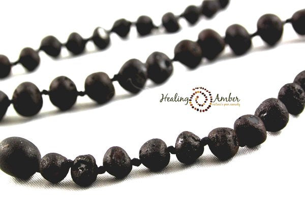 "Healing Amber - 6.5 "" Bracelet/Anklet Raw Molasses (Clasp)"
