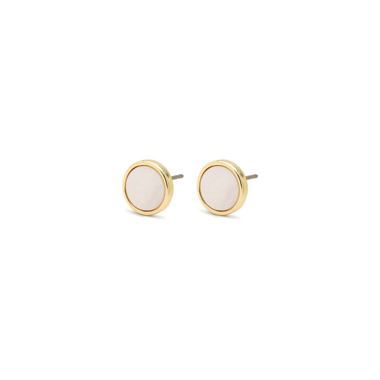 Pilgrim - Earrings Yoko_Pl Gold Plated White