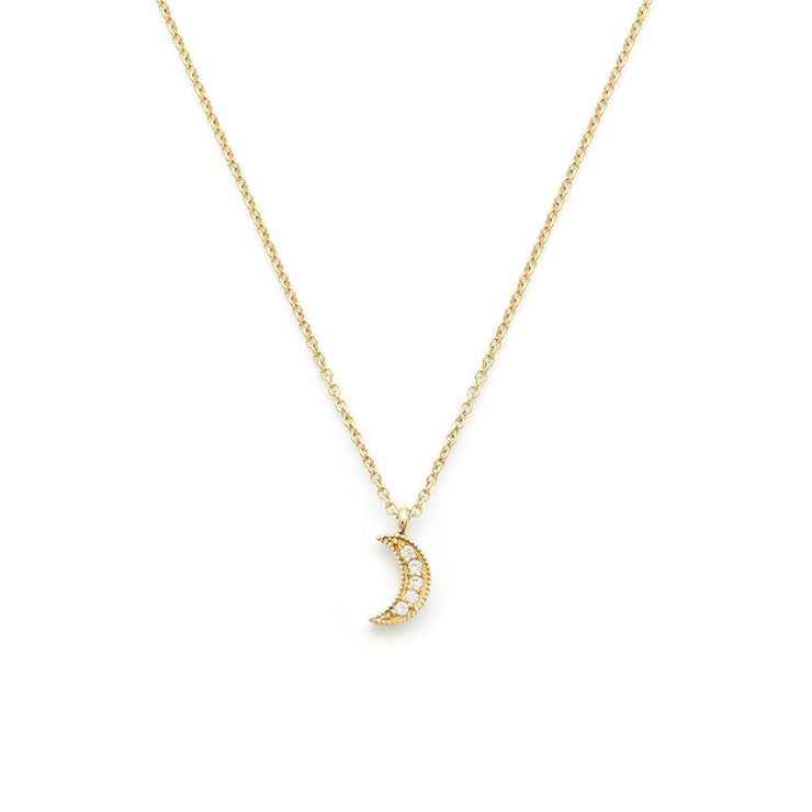 Leah Alexandra - Necklace Luna Crescent Gold
