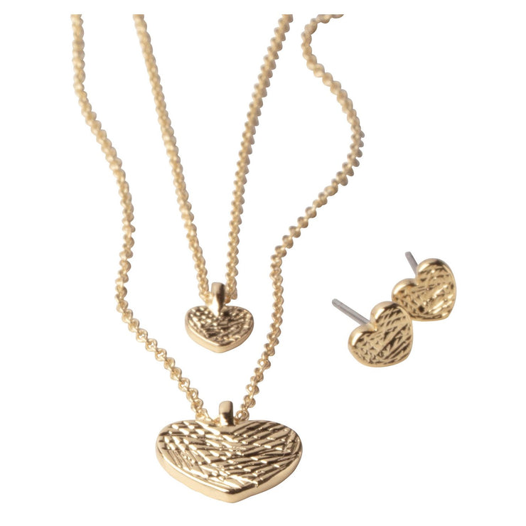 Pilgrim - Earring and Necklace Set Asta Gold Plated