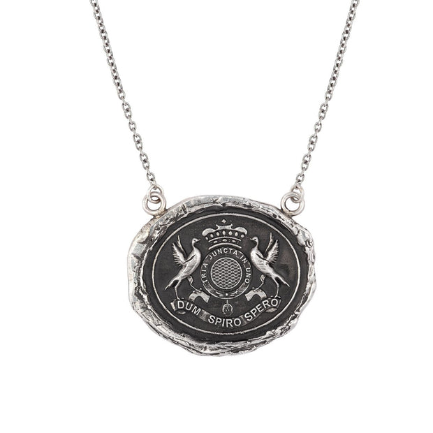 "Pyrrha - Talisman While I Breathe I Hope 18"" Sterling Silver"