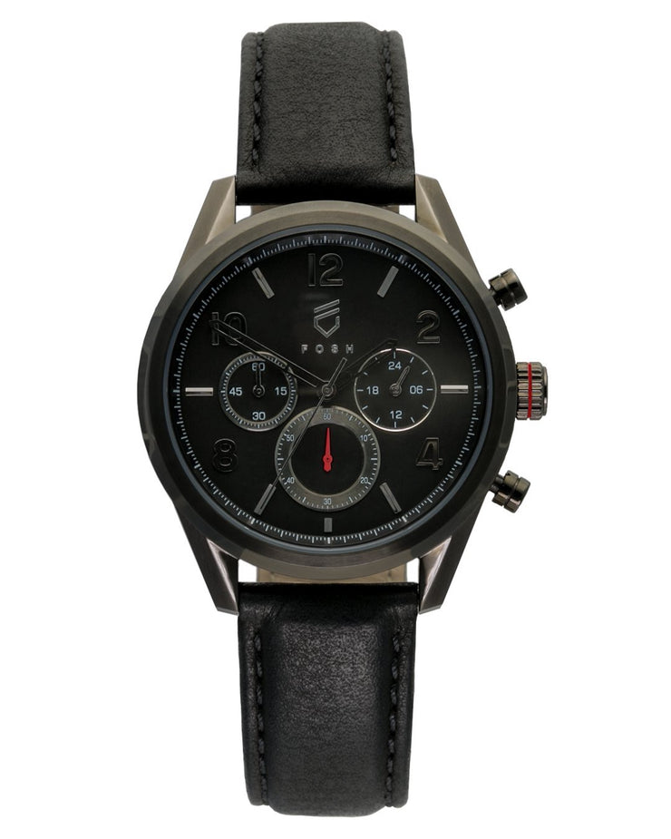 FOSH - The Chrono Supreme Red on Jet Black