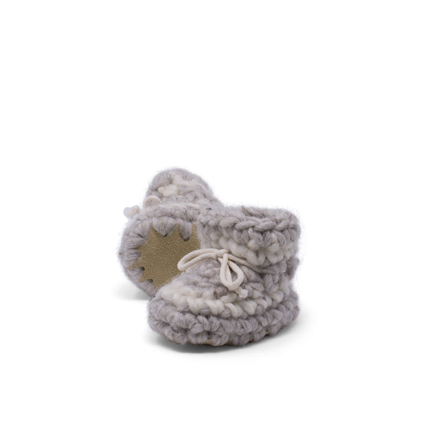 Padraig Cottage - Newborn Slippers Grey Stripe