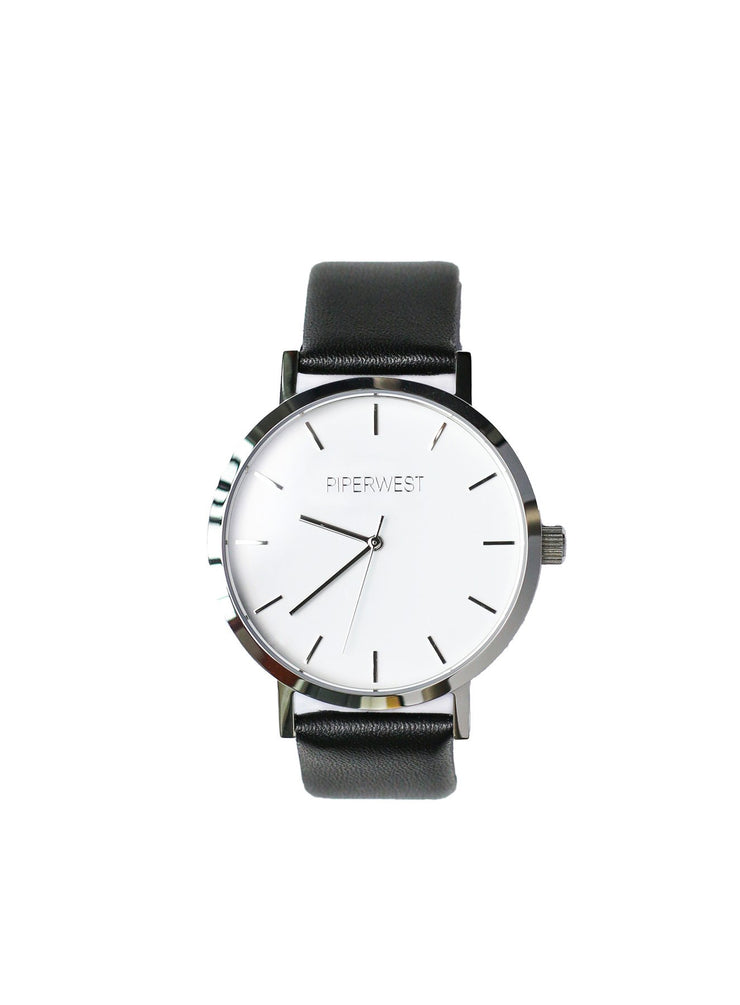 PiperWest - Classic Minimalist 42mm in Silver and Black
