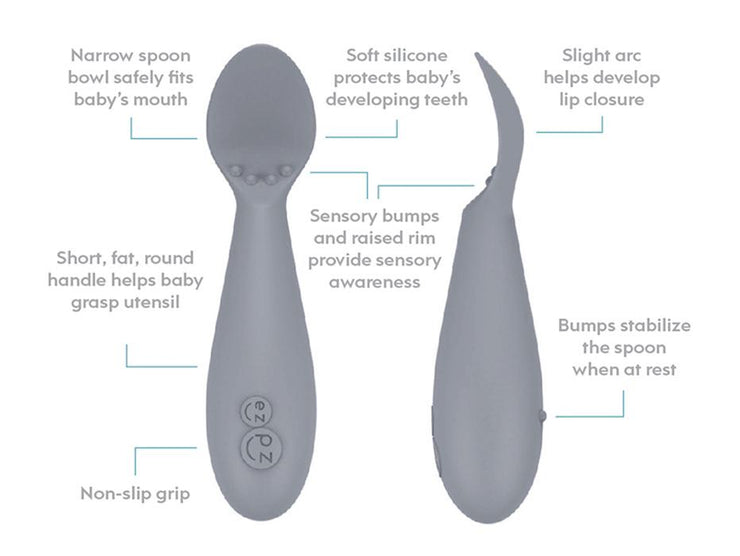 EZPZ Tiny Spoon 2 Pack Sage