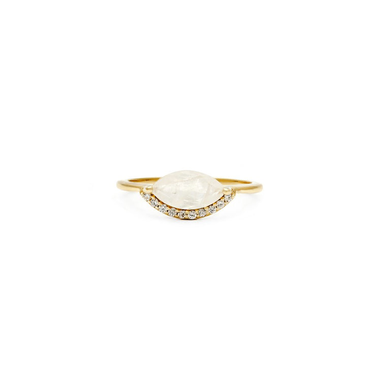 Leah Alexandra - Ring Domingo Moonstone + Gold