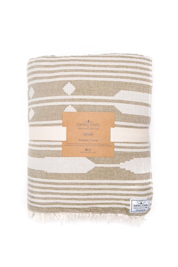 Tofino Towel - The Arrow Throw Khaki