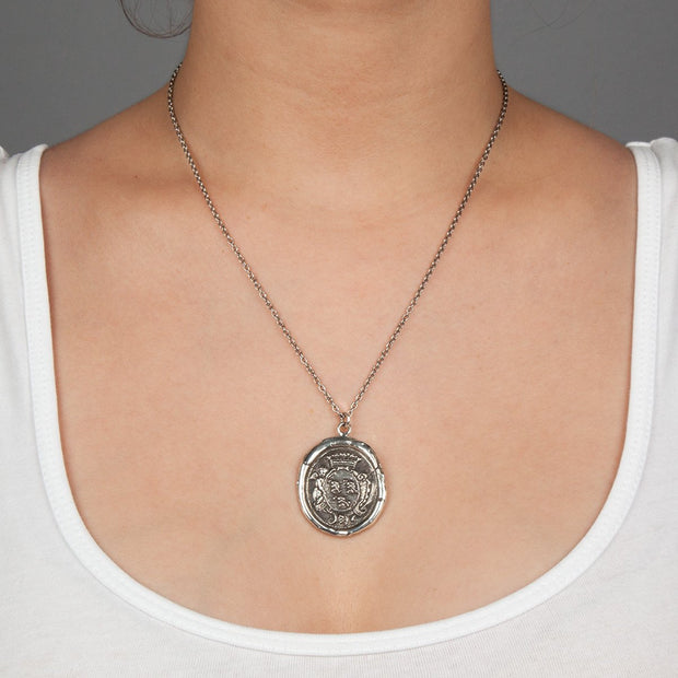 "Pyrrha - Talisman Blessed 30"" Sterling Silver"