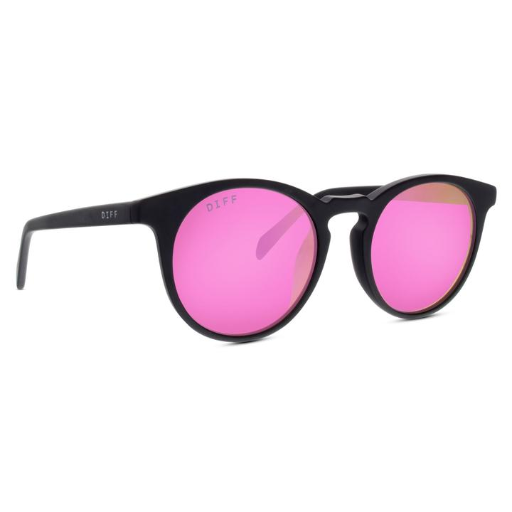 DIFF - Barry MB-PK09P Matte Black Pink Lens Polarized