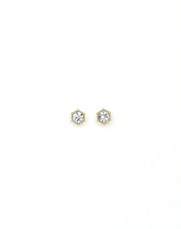 Lover's Tempo - Astrid Stud Earrings Clear