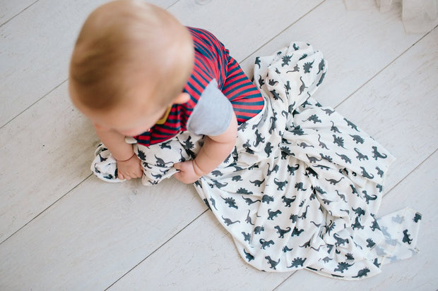 Copper Pearl - Swaddle Blanket Wild Dino