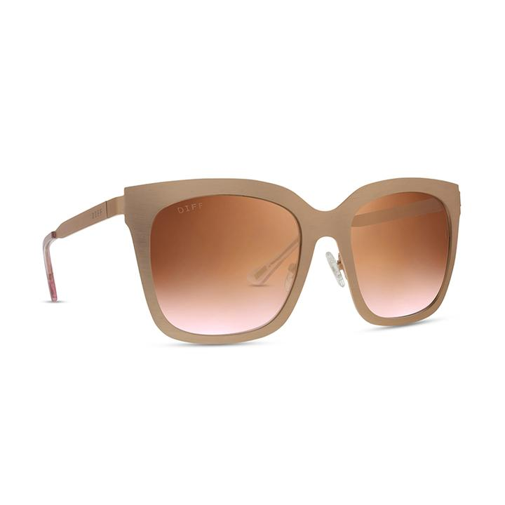 DIFF - Ella RG-RF19 Rose Gold Rose Flash Lens Polarized