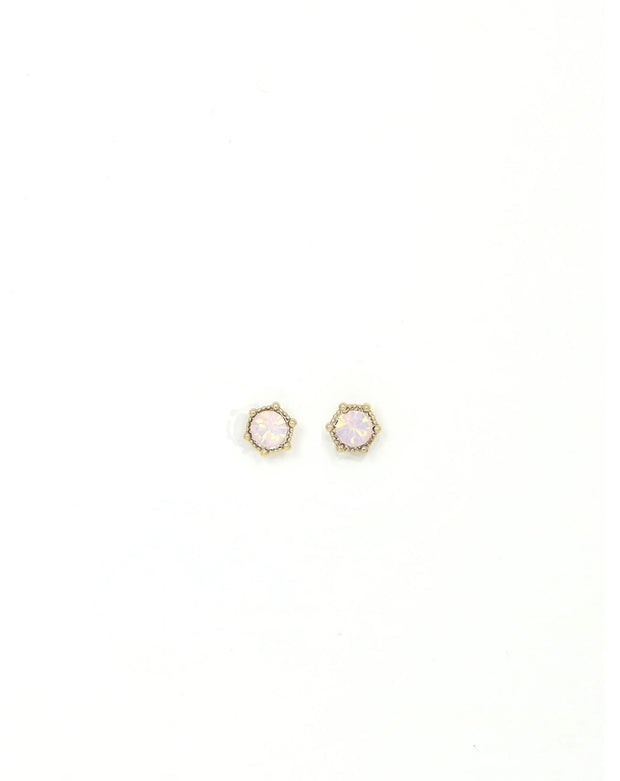 Lover's Tempo - Astrid Stud Earrings Pink Opal